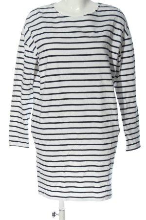 Pieces Robe Sweat blanc-noir motif rayé style décontracté