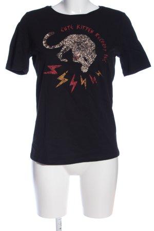 Pieces T-Shirt Motivdruck Casual-Look