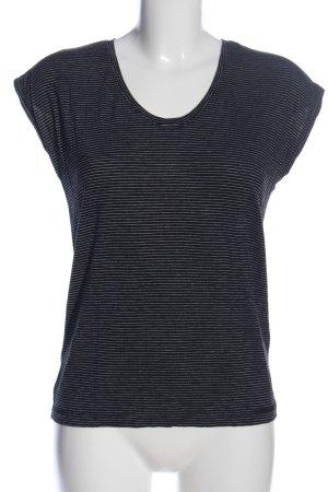 Pieces T-Shirt schwarz-weiß Allover-Druck Casual-Look