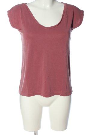Pieces Camiseta rosa look casual