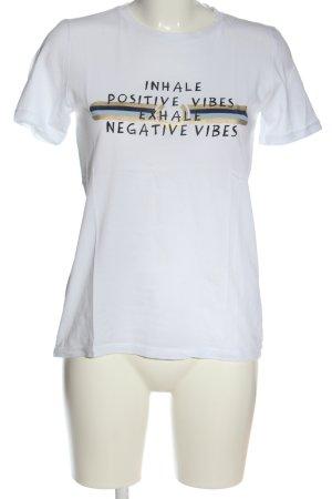 Pieces Camiseta blanco estampado temático look casual