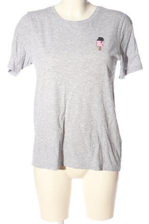 Pieces T-Shirt hellgrau meliert Casual-Look