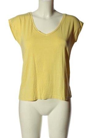Pieces T-Shirt blassgelb Casual-Look