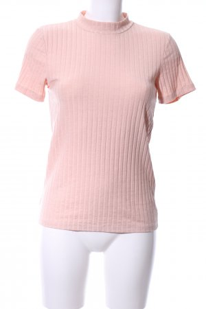 Pieces T-Shirt pink Streifenmuster Casual-Look