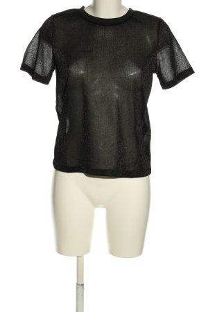 Pieces T-Shirt schwarz Glanz-Optik