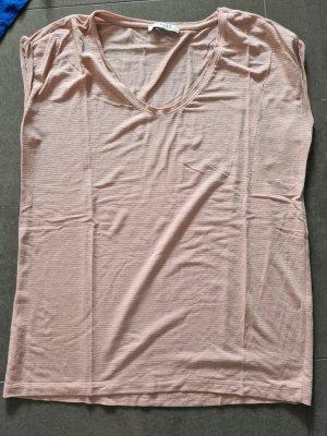 Pieces Camiseta color rosa dorado