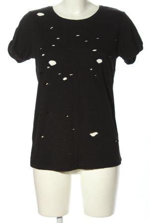 Pieces T-Shirt schwarz Casual-Look