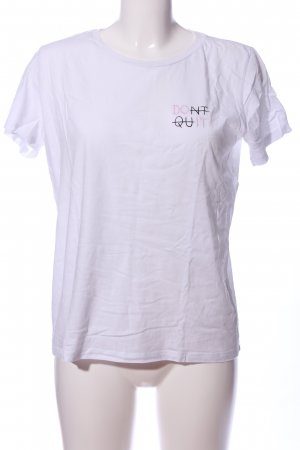 Pieces T-Shirt weiß Schriftzug gedruckt Casual-Look