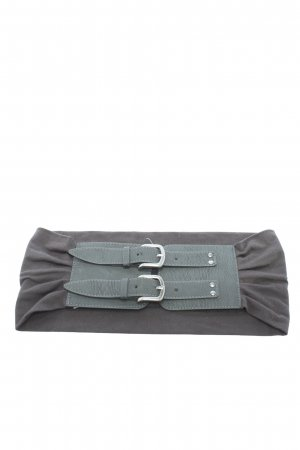 Pieces Waist Belt silver-colored-khaki casual look