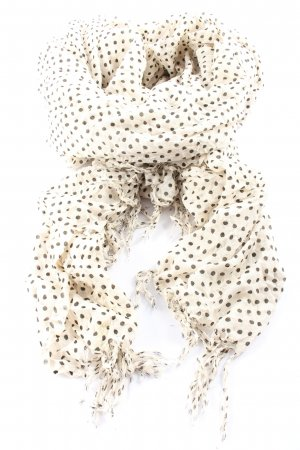 Pieces Traditional Scarf cream-black spot pattern casual look