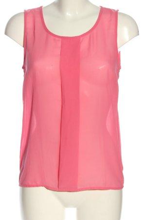 Pieces Transparenz-Bluse pink Business-Look