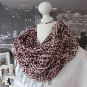 Pieces Tube Scarf cream-russet viscose