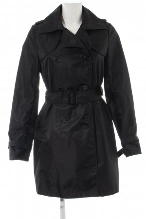 Pieces Trenchcoat schwarz Business-Look