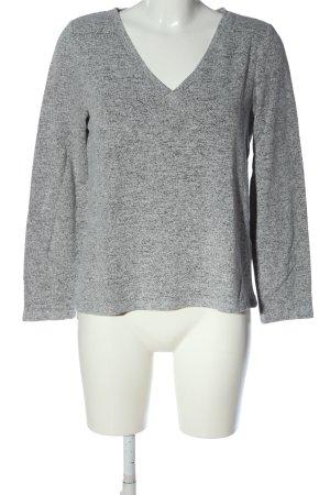 Pieces V-Ausschnitt-Pullover hellgrau meliert Casual-Look