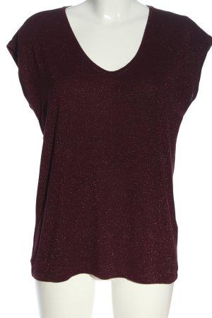 Pieces T-Shirt schwarz Streifenmuster Casual-Look
