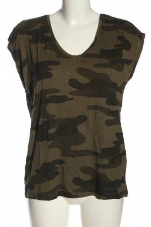 Pieces T-Shirt khaki Allover-Druck Casual-Look
