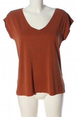 Pieces V-Neck Shirt brown casual look