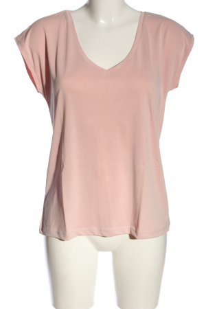 Pieces V-Ausschnitt-Shirt pink Casual-Look