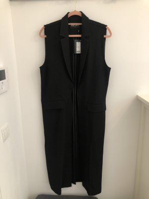 Pieces Long Knitted Vest black