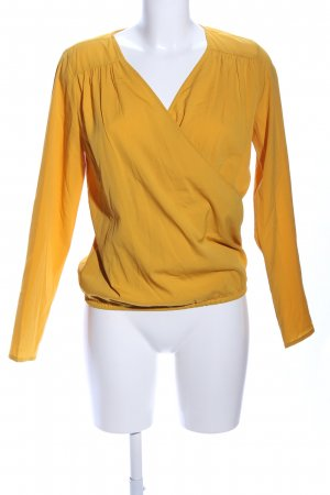 Pieces Wikkelblouse licht Oranje casual uitstraling