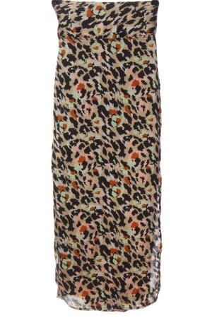 Pieces Kopertowa spódnica Abstrakcyjny wzór Elegancki