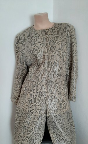 Pielini Leather Dress grey-sand brown