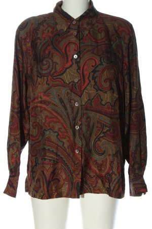Pier Angelini Long Sleeve Shirt brown-red abstract pattern casual look
