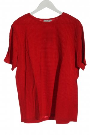 Pier Angelini Chemise côtelée rouge motif rayé style décontracté