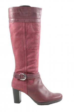 Pier one Absatz Stiefel rot Casual-Look