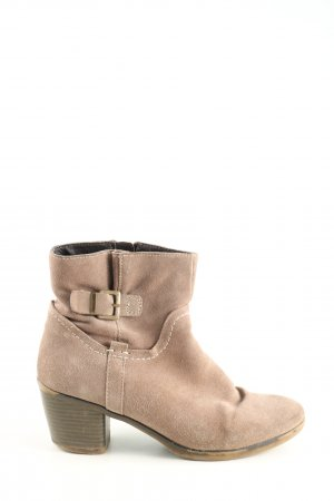 Pier one Booties creme-braun Casual-Look