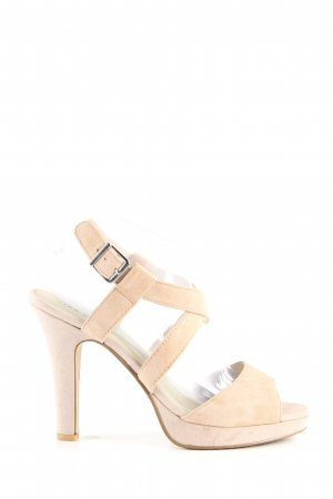 Pier one High Heel Sandaletten creme Casual-Look