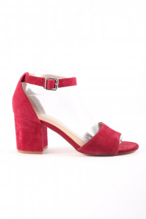 Pier one High Heel Sandaletten rot Business-Look