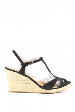 Pier one Wedges Sandaletten schwarz Casual-Look