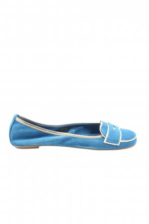 Pier one Klassische Ballerinas blau-weiß Casual-Look