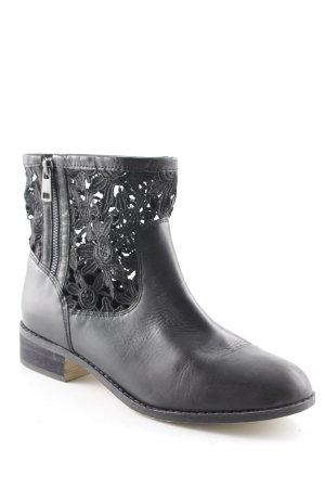 Pier one Krótkie buty czarny W stylu casual