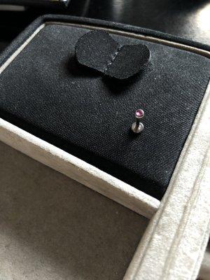 Orecchino d'argento argento-rosa
