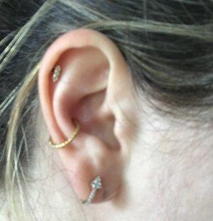 Piercing Gold geflochten Chirurgenstahl Ohr Orbital Ring
