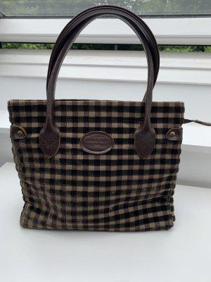 Carry Bag dark brown-cream