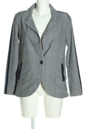 Qiero Blazer in jersey grigio chiaro-nero stampa integrale stile casual
