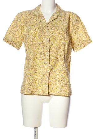 Quiero Kurzarmhemd blassgelb-weiß Blumenmuster Casual-Look