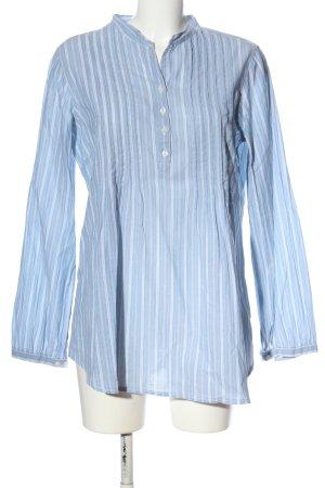 Quiero Langarm-Bluse blau-weiß Streifenmuster Casual-Look