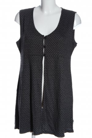 Qiero Long Knitted Vest light grey-black allover print casual look