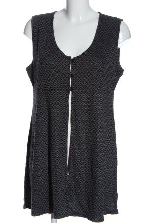 Qiero Gilet long tricoté gris clair-noir imprimé allover style décontracté
