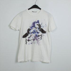 Pierre Balmain T-Shirt Gr. XS weiß gemustert (19/07/019/K)