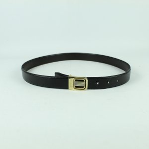 Pierre Balmain Leather Belt black-gold-colored leather