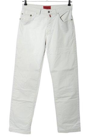 Pierre Cardin Pantalón de cintura alta blanco look casual