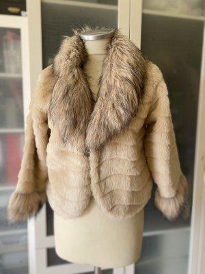 Pierre Cardin Giacca in eco pelliccia beige