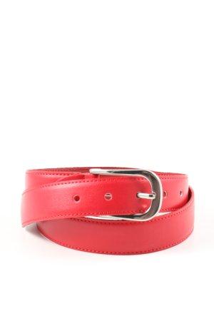 Pierre Cardin Cinturón de cuero rojo look casual