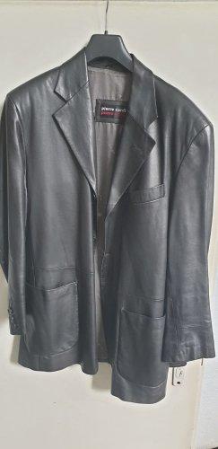 Pierre Cardin Leather Blazer black leather