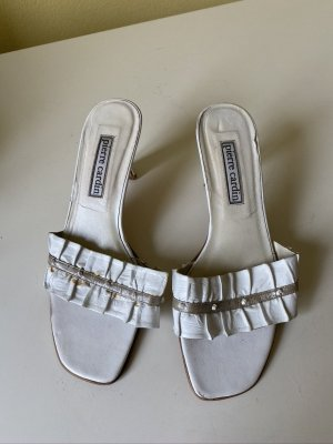 Pierre Cardin Clog Sandals white leather